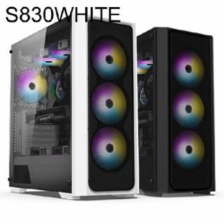 케이스 SWORD S830 RGB 타이탄 글래스 화이트 - PC케이스 SWORD S830 RGB 타이탄 글래스 화이트