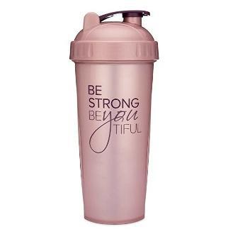 [해외] 1307594 Motivational Quotes on Performa Perfect Shake Be Strong   Rose   28oz - [미국] 1307594 Motivational Quotes on Performa Perfect Shaker Bottle  28 Ounce Classic Protein Shaker