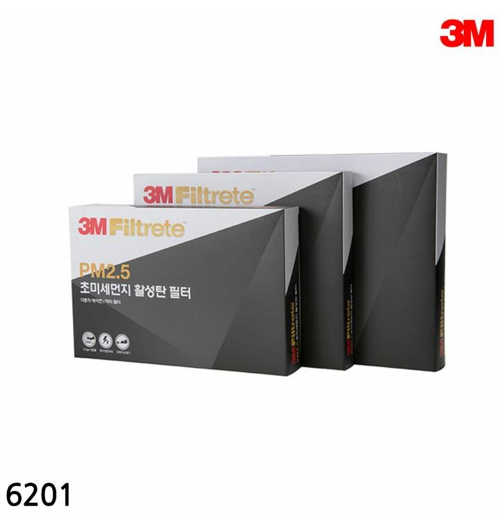 3M 초미세먼지 활성탄 에어컨필터 6201 XG EF 싼타페 소렌토/트라제XG/옵티마/PM