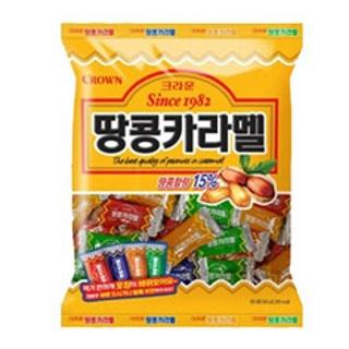 크라운 땅콩카라멜 324g  대용량 [오리온] 마이구미   롯데 해태   인기과자 400종 골라담기