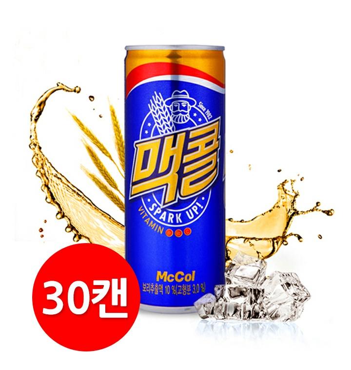 맥콜 250ml 30캔 무료배송