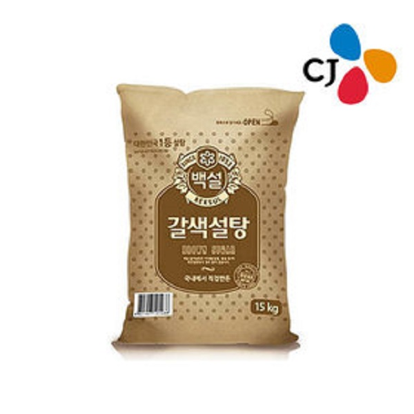 [무료배송] 백설 갈색 설탕 15Kg