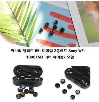 자브라 엘리트 65t 이어팁 3종세트 Sony WF 1000XM3 기어 아이콘x 이어패드 3종세트