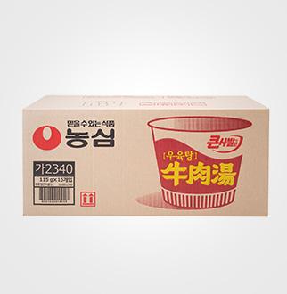 [슈퍼마트]농심 우육탕 큰사발 115g*16입