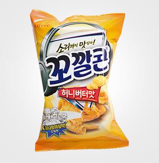 [슈퍼마트]롯데꼬깔콘 허니버터맛 66g