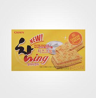 [슈퍼마트]크라운 참잉 치즈크림 135g