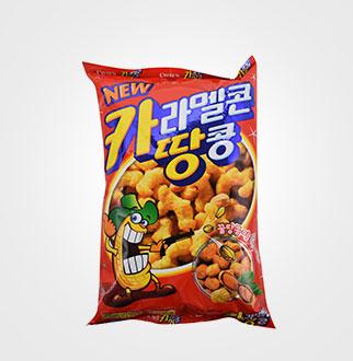 [슈퍼마트]크라운 카라멜콘 땅콩170g