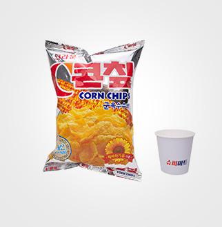 크라운 콘칩 군옥수수맛 칼슘 70g×5입