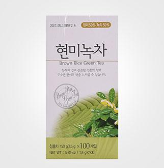 [슈퍼마트]꽃샘식품 현미녹차1.5G*100T
