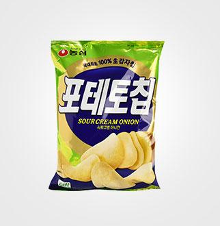[슈퍼마트]농심 포테토칩 사워크림어니언125g