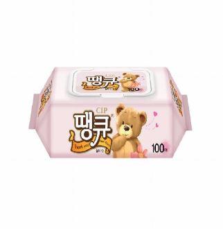 [슈퍼마트]땡큐 물티슈캡형100매x10팩(박스)