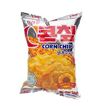 [슈퍼마트]크라운 콘칩 군옥수수맛 칼슘 70g