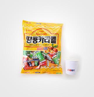 [슈퍼마트]크라운 땅콩카라멜 324g