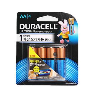 [슈퍼마트]듀라셀 울트라 파워체크 AA 4개입