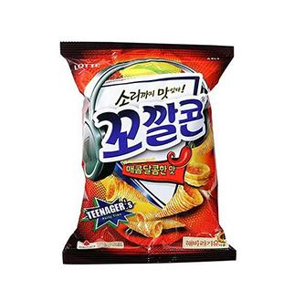 [슈퍼마트]꼬깔콘매콤한맛77g