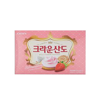 [슈퍼마트]크라운 딸기산도 323g
