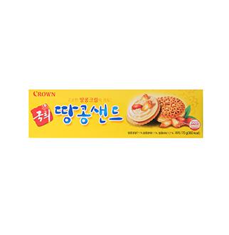 [슈퍼마트]크라운 국희 땅콩샌드 70g