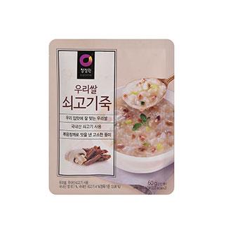 [슈퍼마트] 청정원 우리쌀쇠고기죽60g