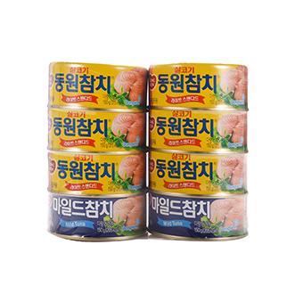 [슈퍼마트]동원 참치150g6+2(살코기6개+마일드2개)