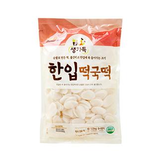 [슈퍼마트]풀무원 한입 떡국떡 1.5kg