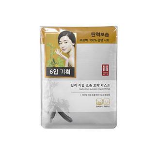 [슈퍼마트]일리 리얼 코튼 호박 마스크 6매