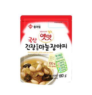 [슈퍼마트]종가집 옛맛 간장 모듬마늘 장아찌 180g