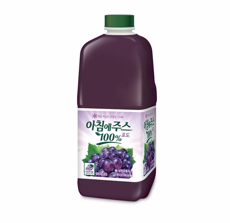 [슈퍼마트][냉장]아침에주스 포도 1.8L