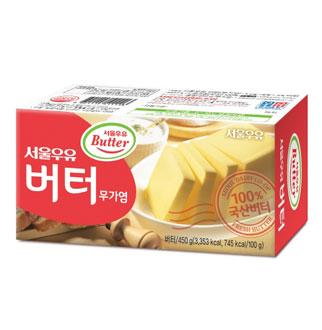 [슈퍼마트]서울우유 무가염 버터 450g