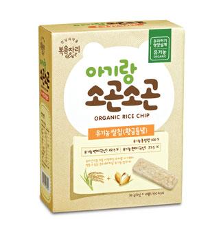 [슈퍼마트]아기랑 소곤소곤 유기농쌀칩(황금들녘)