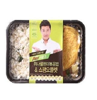 [슈퍼마트]취나물현미밥&스팸오믈렛