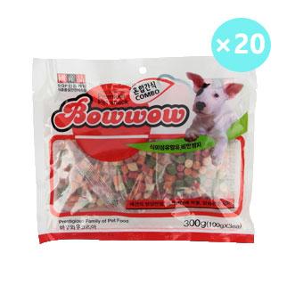 [대용량] 바우와우 혼합간식 300g * 20