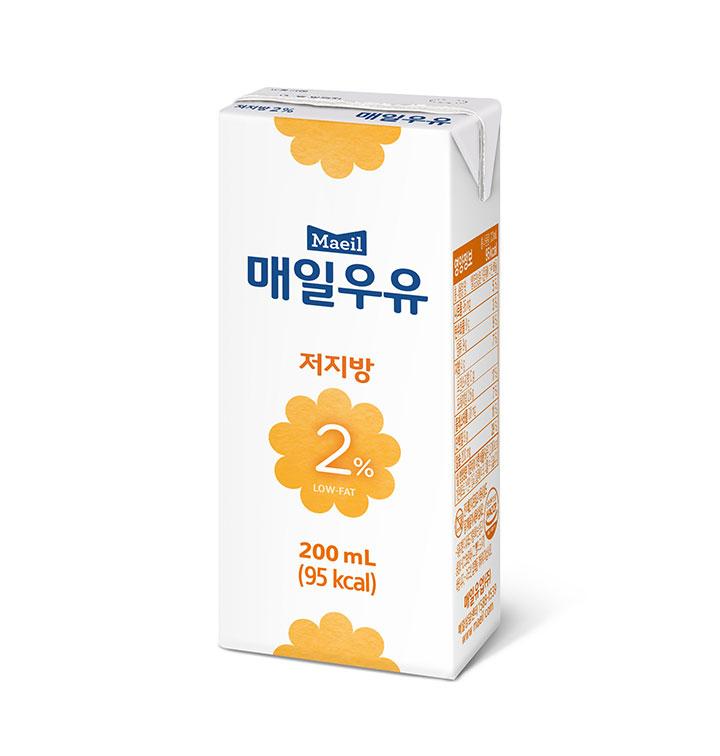 [슈퍼마트] 매일유업 멸균우유 저지방 2% 흰우유 200ml*24