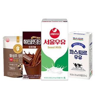 [슈퍼마트]인기 멸균우유/두유 15종★무료배송