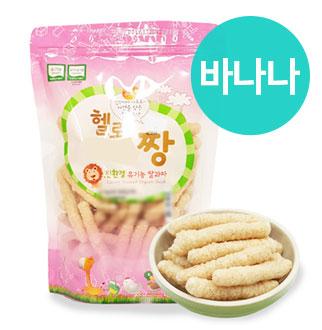 [슈퍼마트]짱죽 유기농 쌀과자 80g 바나나