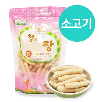 [슈퍼마트]짱죽 유기농 쌀과자 80g 소고기