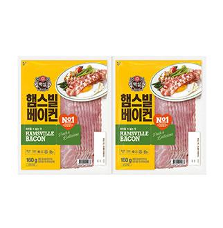 [슈퍼마트]CJ 햄스빌 베이컨 160g*2입