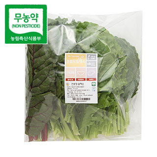 [슈퍼마트]친환경 모듬쌈채소 250g