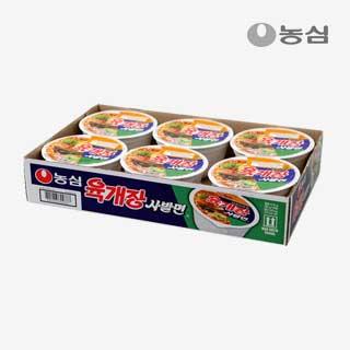 [슈퍼마트]농심 육개장 사발면 86g*6입