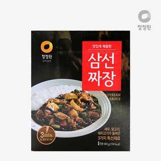[슈퍼마트]청정원 삼선짜장 180g