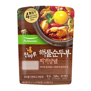 [슈퍼마트]풀무원 해물순두부 찌개양념 140g