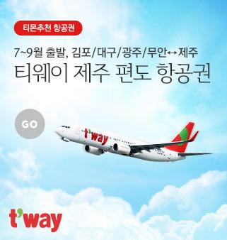 전국出 티웨이 편도항공권